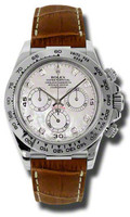 Rolex Daytona WG Leather116519MOPDIA