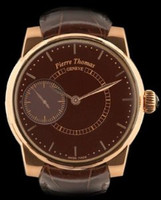 Pierre Thomas Geneve Grande Seconde Historical Mechanical Movement Brown Laquered Dial Watch PTGS9-3