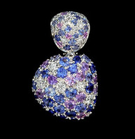 Mousson Atelier Riviera Gold Sapphire & Diamond Pendant P0040-0/2