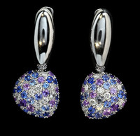 Mousson Atelier Riviera Gold Sapphire & Diamond Earrings E0040-1/6