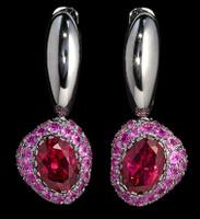 Mousson Atelier Riviera Rhodolite Pink Sapphire Earrings E0072-0/16