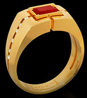 Mousson Atelier Mens Jewellery Collection Ruby & Diamond Ring R0071-0/1