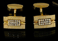 "Mousson Atelier Mens Jewellery Cufflinks ""Scar"" Diamonds"