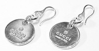 Gucci Branded G Earrings Silver