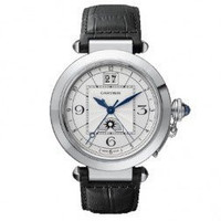 Cartier Pasha XL (SS/Silver/Leather Strap)