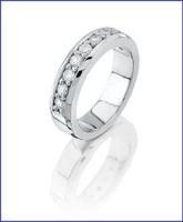 Gregorio Platinum Diamond Wedding Band R-7275B