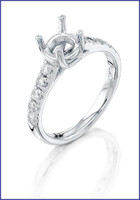 Gregorio Platinum Diamond Engagement Ring R-5609