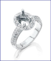 Gregorio Platinum Diamond Engagement Ring R-5522