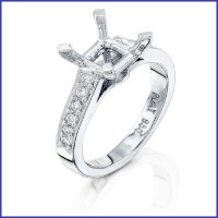 Gregorio Platinum Diamond Engagement Ring R-5052