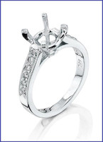 Gregorio Platinum Diamond Engagement Ring R-5047