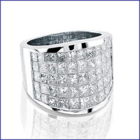 Gregorio 18K WG Solid Ladies Diamond Ring R-2929