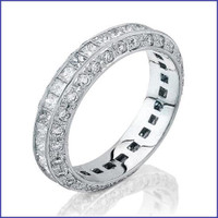 Gregorio 18K WG Diamond Wedding Band R-1219