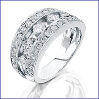 Gregorio 18K WG Diamond Wedding Band R-201