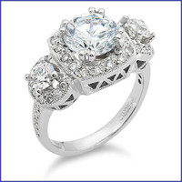 Gregorio 18K WG Diamond Ring R-299