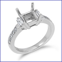 Gregorio 18K WG Diamond Engagement Ring R-6142