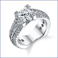 Gregorio 18K WG Diamond Engagement Ring R-568-1