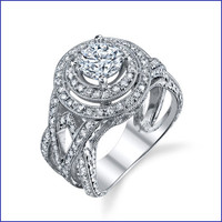 Gregorio 18K WG Diamond Engagement Ring R-564