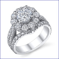 Gregorio 18K WG Diamond Engagement Ring R-542