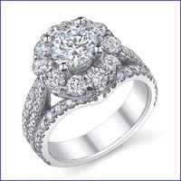 Gregorio 18K WG Diamond Engagement Ring R-542