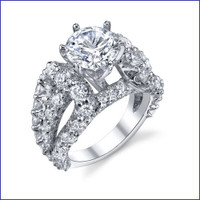 Gregorio 18K WG Diamond Engagement Ring R-513