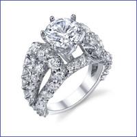 Gregorio 18K WG Diamond Engagement Ring R-513
