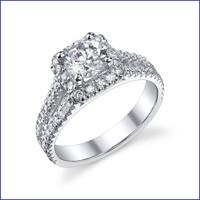 Gregorio 18K WG Diamond Engagement Ring R-502