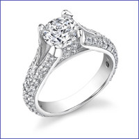 Gregorio 18K WG Diamond Engagement Ring R-501