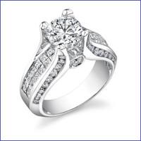 Gregorio 18K WG Diamond Engagement Ring R-499