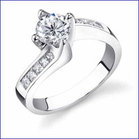 Gregorio 18K WG Diamond Engagement Ring R-474