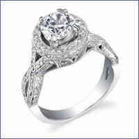 Gregorio 18K WG Diamond Engagement Ring R-471-1