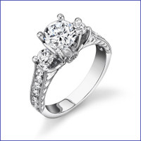 Gregorio 18K WG Diamond Engagement Ring R-463