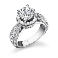 Gregorio 18K WG Diamond Engagement Ring R-458