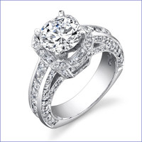 Gregorio 18K WG Diamond Engagement Ring R-451