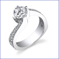 Gregorio 18K WG Diamond Engagement Ring R-447