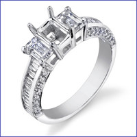 Gregorio 18K WG Diamond Engagement Ring R-444