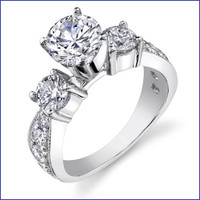 Gregorio 18K WG Diamond Engagement Ring R-443