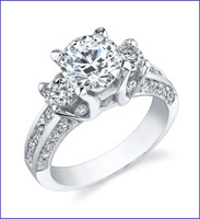Gregorio 18K WG Diamond Engagement Ring R-429