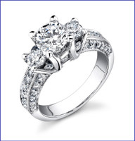 Gregorio 18K WG Diamond Engagement Ring R-428