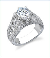Gregorio 18K WG Diamond Engagement Ring R-392