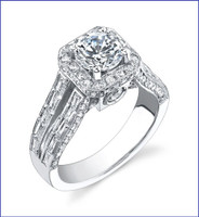Gregorio 18K WG Diamond Engagement Ring R-388-1
