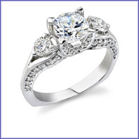 Gregorio 18K WG Diamond Engagement Ring R-368