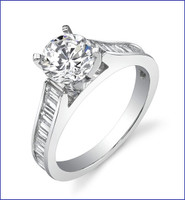 Gregorio 18K WG Diamond Engagement Ring R-334-1