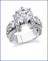 Gregorio 18K WG Diamond Engagement Ring R-332-1