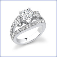 Gregorio 18K WG Diamond Engagement Ring R-318
