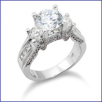 Gregorio 18K WG Diamond Engagement Ring R-293