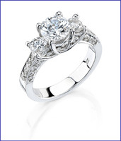 Gregorio 18K WG Diamond Engagement Ring R-268