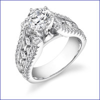 Gregorio 18K WG Diamond Engagement Ring R-204