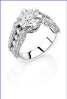 Gregorio 18K WG Diamond Engagement Ring R-150