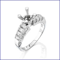 Gregorio 18K WG Diamond Engagement Ring & Band MTR-160