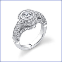 Gregorio 18K WG Diamond Engagement Ring R-6403